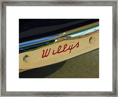 Classic Willys Jeep Framed Print