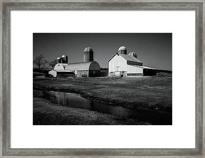 Framed Print featuring the photograph Classic Wisconsin Farm by Viviana  Nadowski