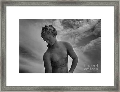 Classic Woman Statue Framed Print