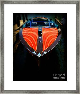 Classic Wooden Boat Framed Print by Perry Webster