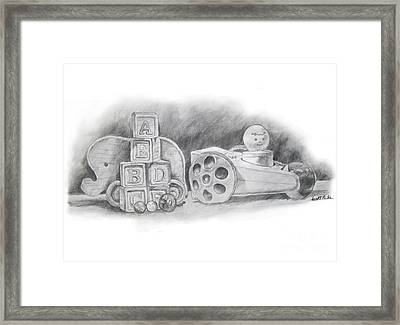 Classic Wooden Toys Framed Print