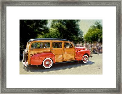 Classic Woody Station Wagon Framed Print by Roger Soule