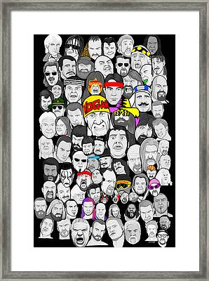 Classic Wrestling Superstars Framed Print by Gary Niles
