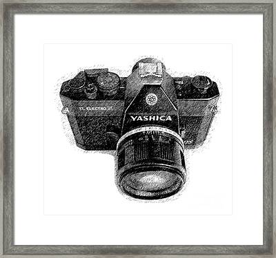 Classic Yashica Slr Film Camera Framed Print