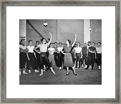 Classical Dance Class Framed Print by Underwood Archives