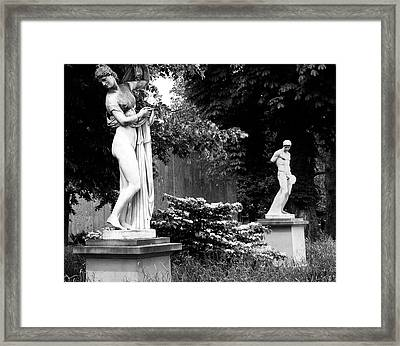 Classical Marble Statues At Public Park Framed Print