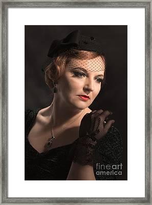 Classical Portrait Framed Print by Amanda Elwell