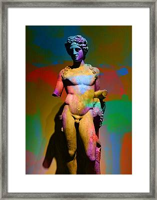 Classical Sculpture In Colour Framed Print