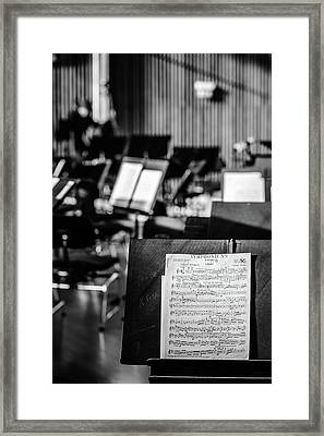 Classical Sheet Music Framed Print