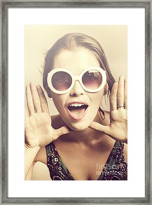Classical Spring Pinup Framed Print by Jorgo Photography - Wall Art Gallery