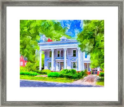 Classically Southern - Montezuma Georgia Framed Print by Mark Tisdale