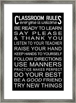 Classroom Rules Poster Framed Print