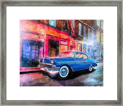 Classic Nights - 56 Chevy Framed Print