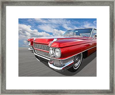 Classy - '64 Cadillac Framed Print