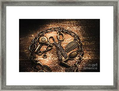 Classy Haircut Icons Framed Print by Jorgo Photography - Wall Art Gallery