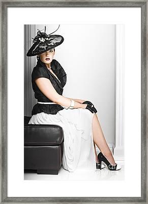 Classy Lady In Elegant Fashion Framed Print by Jorgo Photography - Wall Art Gallery