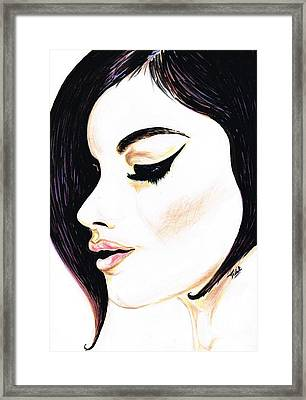 Classy Lady Framed Print by Teresa White
