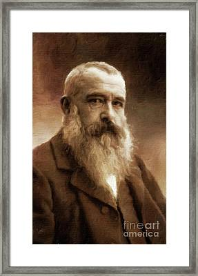 Claude Monet, Artist By Mary Bassett Framed Print by Mary Bassett
