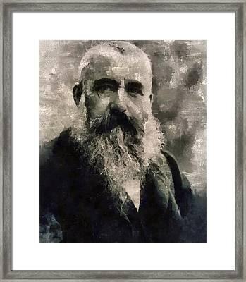 Claude Monet, Artist Framed Print by Mary Bassett