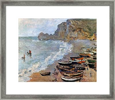 Claude Monet: Etretat, 1883 Framed Print by Granger