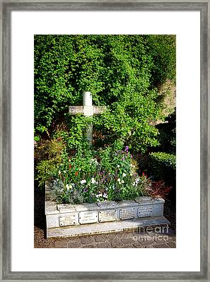 Claude Monet Grave In Giverny Framed Print by Olivier Le Queinec
