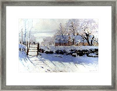 Claude Monet The Magpie - To License For Professional Use Visit Granger.com Framed Print
