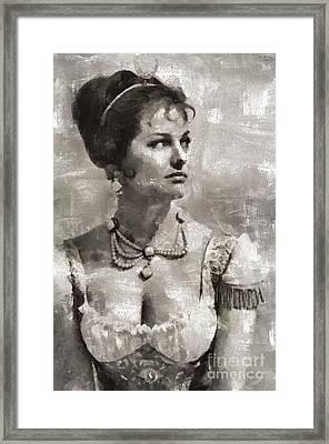 Claudia Cardinale, Actress Framed Print