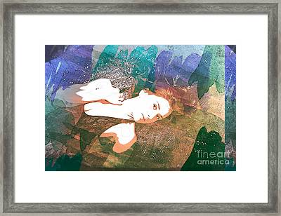 Claudia Nude Fine Art Painting Print In Sensual Sexy Color 4895. Framed Print