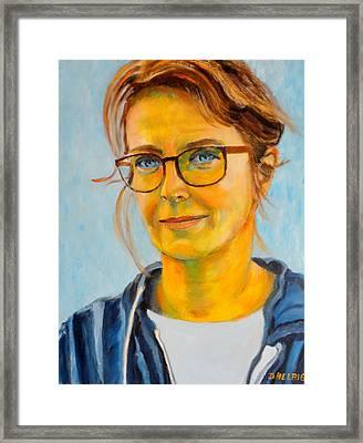 Claudia-portrait Framed Print