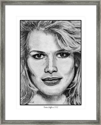 Claudia Schiffer In 1992 Framed Print by J McCombie