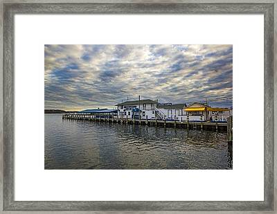 Claudio's Dock Framed Print