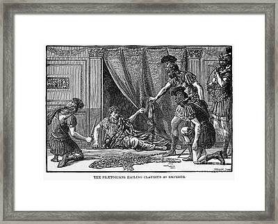 Claudius And Guards Framed Print by Granger