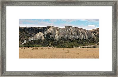 Framed Print featuring the photograph Clay Cliffs Omarama by Gary Eason