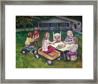 Clay Fun Framed Print by Olga Kaczmar