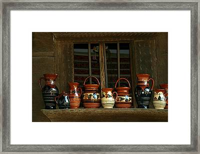 Clay Jugs  Framed Print