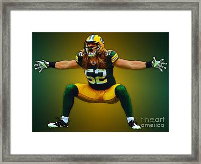 Clay Matthews Framed Print by Herb Paynter