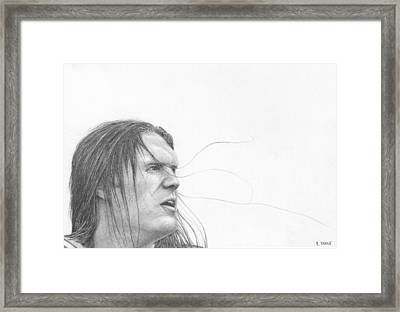 Clay Matthews Framed Print by Rick Yanke