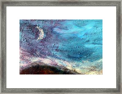 Clay Moon Framed Print