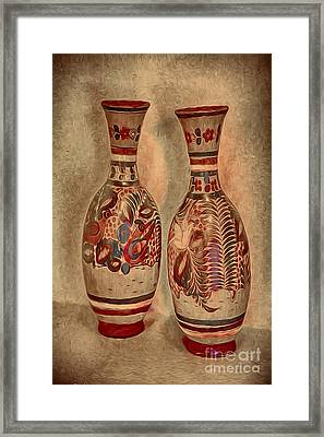 Clay  Pottery  ... Framed Print by Chuck Caramella