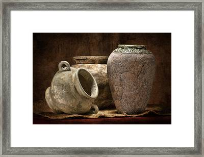 Clay Pottery II Framed Print by Tom Mc Nemar