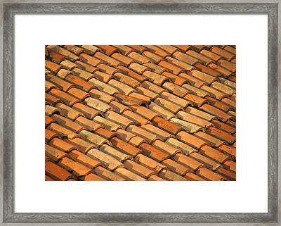 Clay Roof Tiles Framed Print
