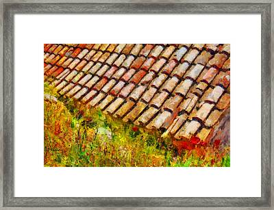 Clay Tiles Framed Print