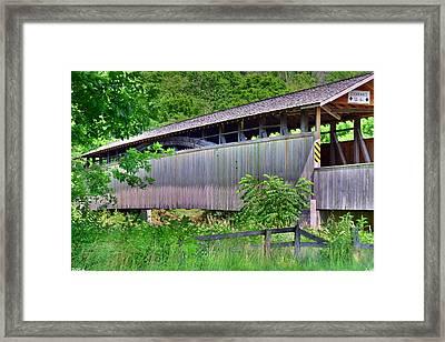 Claycolm/reynoldsdale Covered Bridge 2 Framed Print by Lisa Wooten