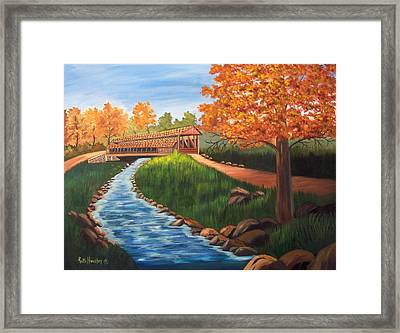 Claycomb Covered Bridge Sold Framed Print by Ruth  Housley