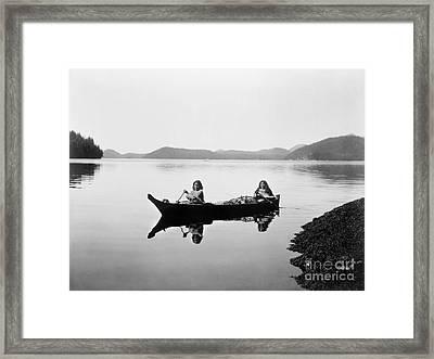 Clayoquot Canoe, C1910 Framed Print