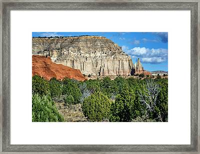 Claystone - Sandstone - Kodachrome Basin Framed Print