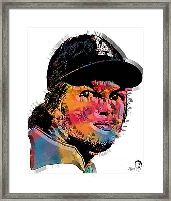 Clayton Kershaw Framed Print by Dalon Ryan