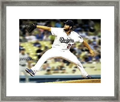 Clayton Kershaw, Los Angeles Dodgers Framed Print