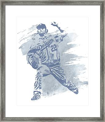Clayton Kershaw Los Angeles Dodgers Water Color Art 1 Framed Print