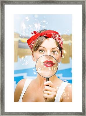 Clean House Inspector Framed Print by Jorgo Photography - Wall Art Gallery